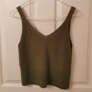 Beautiful Green Knit Tank Top